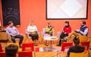 На BAZARе: Михаил Славский, Светлана Иванова, Елена Щекотихина, Инга Коппель, ведущий Михаил Комашко (слева направо)