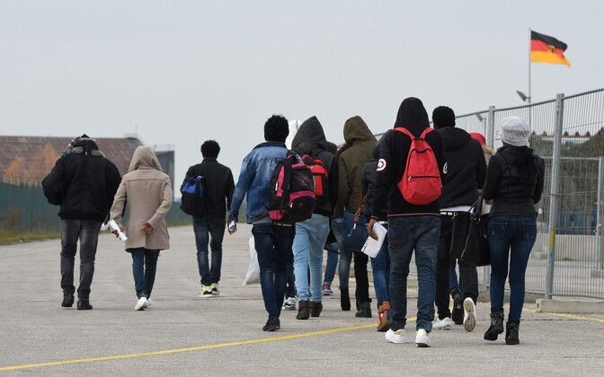 Saksamaale saabunud migrandid.