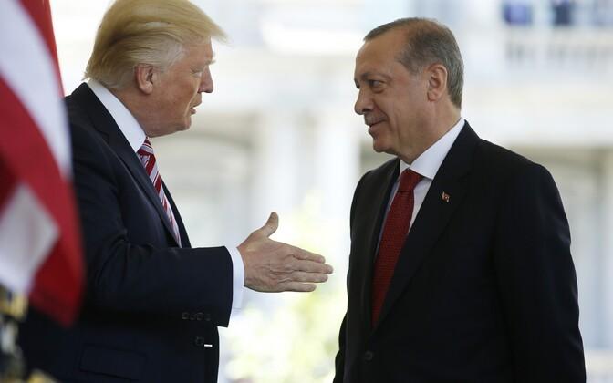 Presidendid Donald Trump ja Recep Tayyip Erdogan mais Washingtonis.