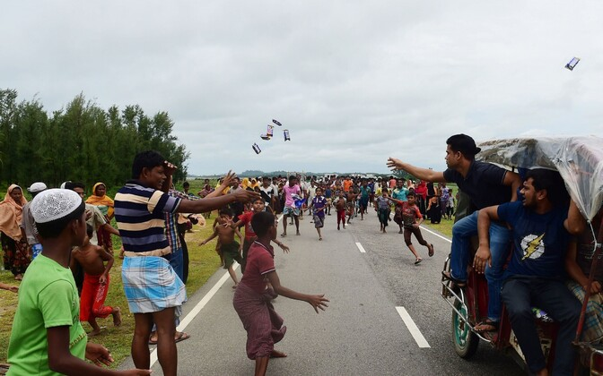 Rohingade põgenikud Bangladeshis.