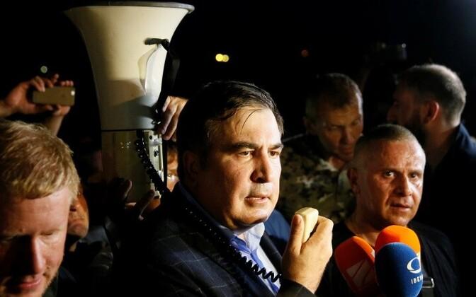 Саакашвили хотят судить за незаконное пересечение границы.