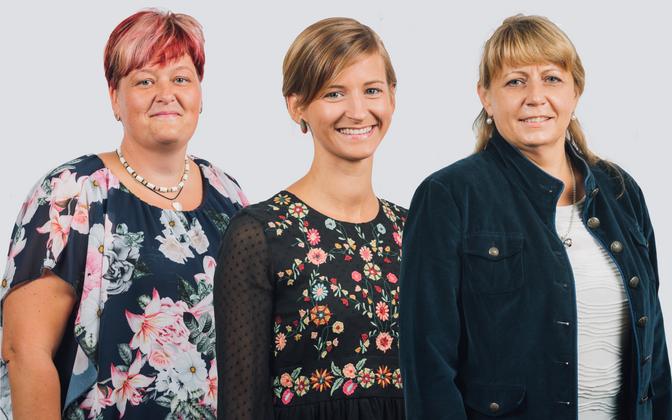 Aasta lasteaiaõpetaja nominedid Kaidi Lahe, Gladi Sivard ja Marika Moks.