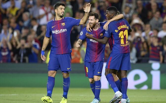 Lionel Messi lõi Torino Juventuse võrku kaks väravat
