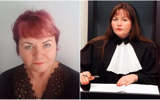 Vasakul Monica Meristo-Dmitrijev praegu, paremal sama isik aastal 2005 Monica Velsina.