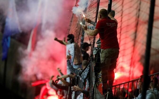 Moskva Spartaki fännid Mariboris