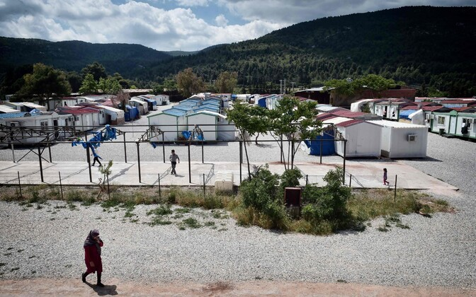 A refugee camp near Athens, Greece.