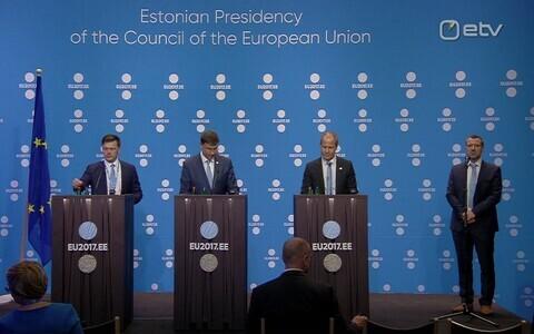 Пресс-конференция после встречи министров финансов ЕС