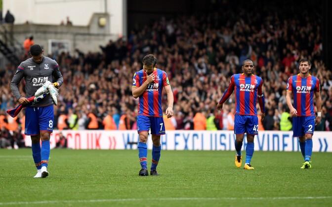 Crystal Palace'i mängijad pärast kaotust Southamptonile