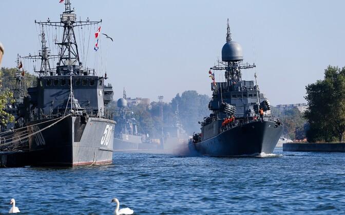 Русские военные корабли подошли кграницам Латвии 17сентября 2017 22:27