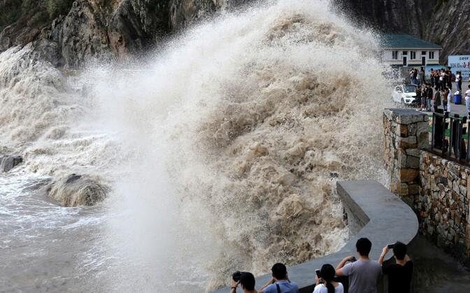 Taifuun Talim Hiinas.