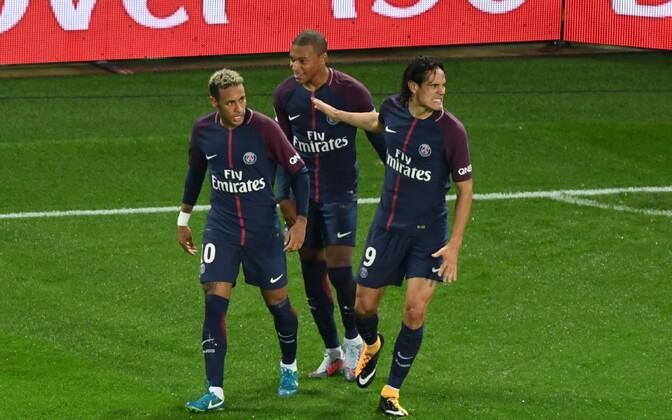 Neymar, Kylian Mbappe ja Edinson Cavani