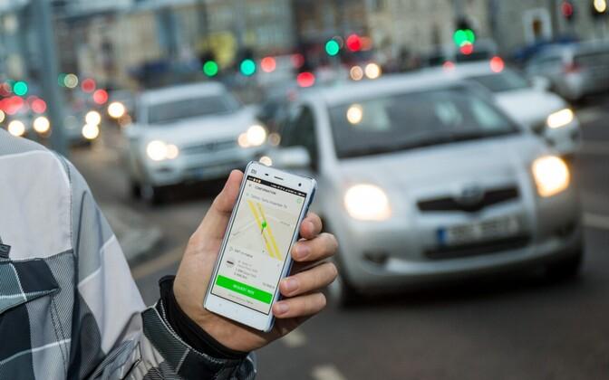 Taxify app.