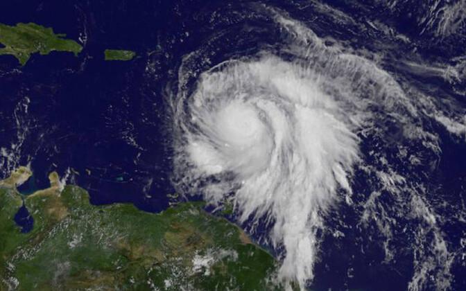 Orkaan Maria sateliidivaade.