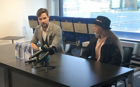 Kalle Palling ja Kelly Sildaru