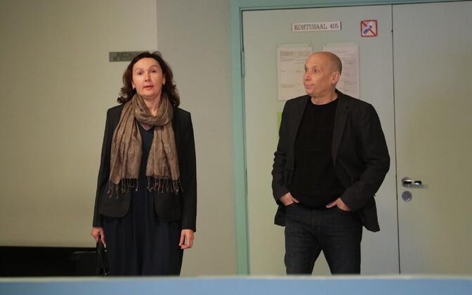Anna Annikova and Kaido Tamberg in court. Sept. 20, 2017.