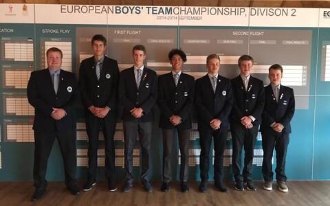 Eesti golfikoondis Division 2 võistlusel Poolas.