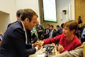 President Kersti Kaljulaid ÜRO peaassambleel Prantsuse presidendi Emmanuel Macroniga