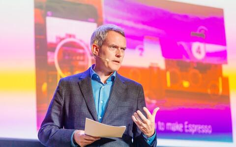 Google'i Põhja-Euroopa poliitika- ja valitsussuhete direktor Iarla Flynn esines Tallinnas tulevikutöö konverentsil.