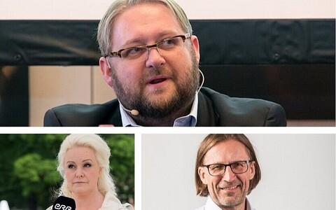 Анвар Самост (сверху), Кармель Килланди и Пеэп Кала
