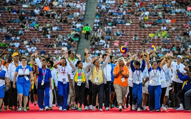 Sportlased 2015. aasta eriolümpia avamisel.