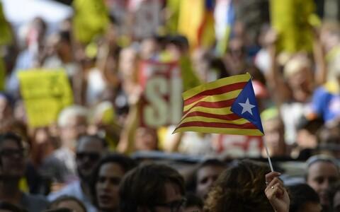 Kataloonia iseseisvuse pooldajate protest.
