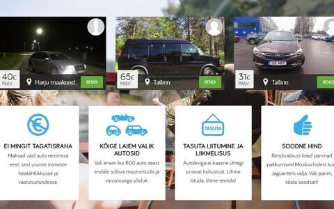 Сайт аренды автомобилей.