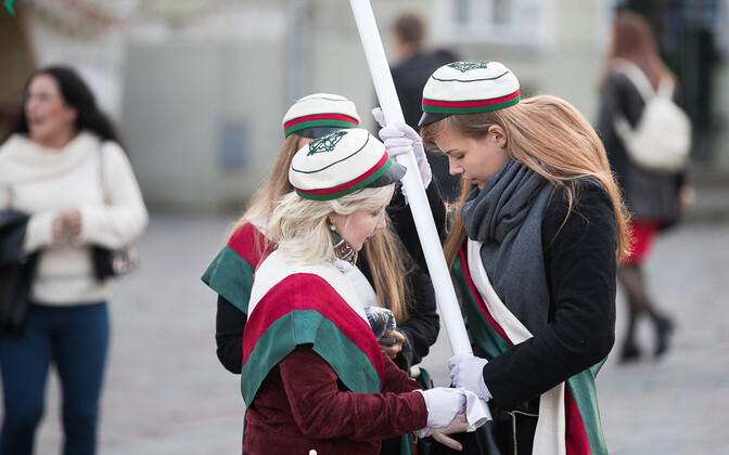 Members of a student fraternity in Estonia.