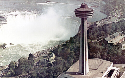 Skylon Tower and Exhibition Centre, Niagara Falls, Bregman + Hamann, leading architect Kaljo Voore, 1965.