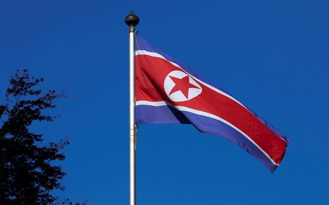 Флаг КНДР.