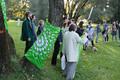 Rohelised osalemas meeleavaldusel Reidi tee vastu 23. septembril. Rohelises jopes Joonas Laks.