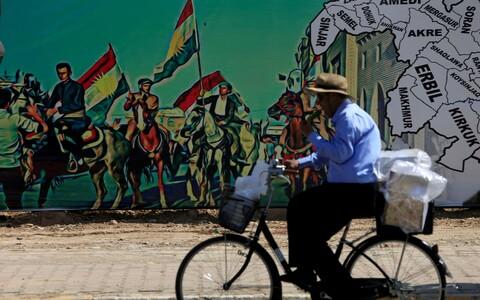 Seinamaaling Iraagi Kurdistani iseseisvuse toetuseks.