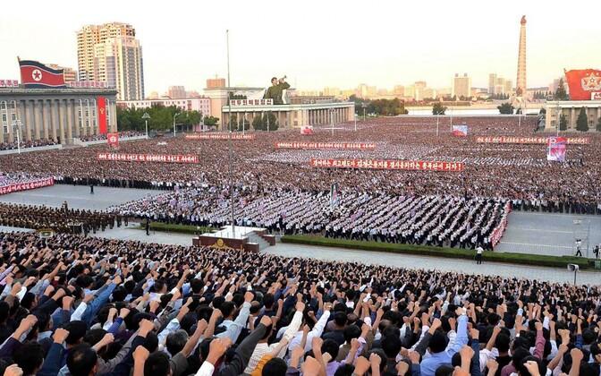 USA vastane meeleavaldus Pyongyangis.