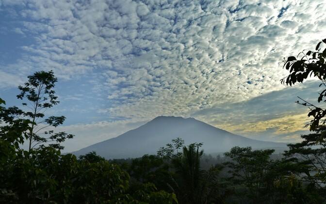 Вулкан Агунг на Бали.