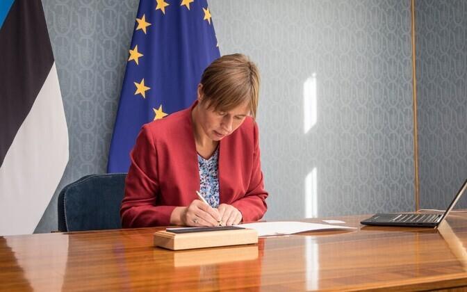 President Kersti Kaljulaid kuulutas välja Istanbuli konventsiooni ratifitseerimise.