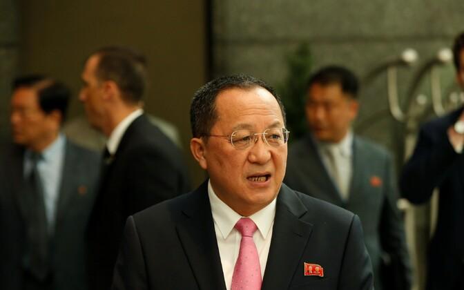 Põhja-Korea välisminister Ri Yong-ho.