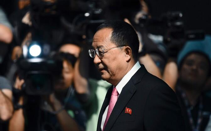 Министр иностранных дел КНДР Ли Ён Хо заявил, что США объявили войну Северной Корее