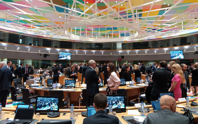 General Affairs Council in Brussels on Monday. Sept. 25, 2017.