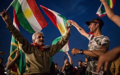 Iraagi kurdid tähistavad referendumit.