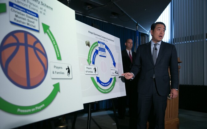 Prokurör Joon H. Kim NCAA ja Adidase skandaali pressikonverentsil