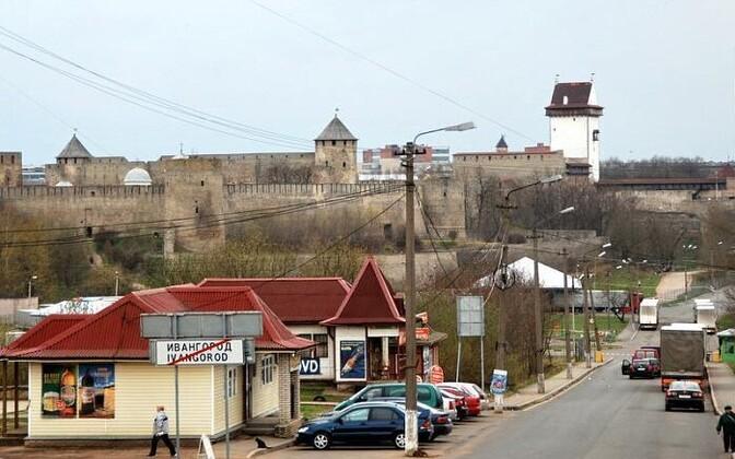 Пунтк пропуска в Ивангороде.