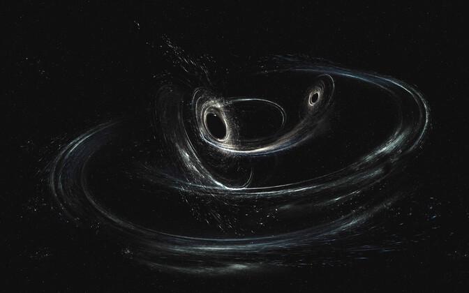 Mustade aukude ühinemine kunstniku nägemuses.