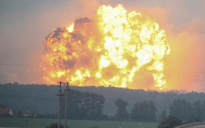 Plahvatused 27. septembril Kalõnivka laskemoonalaos.