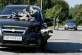 Purunenud sõiduauto Kalõnivka lähistel.