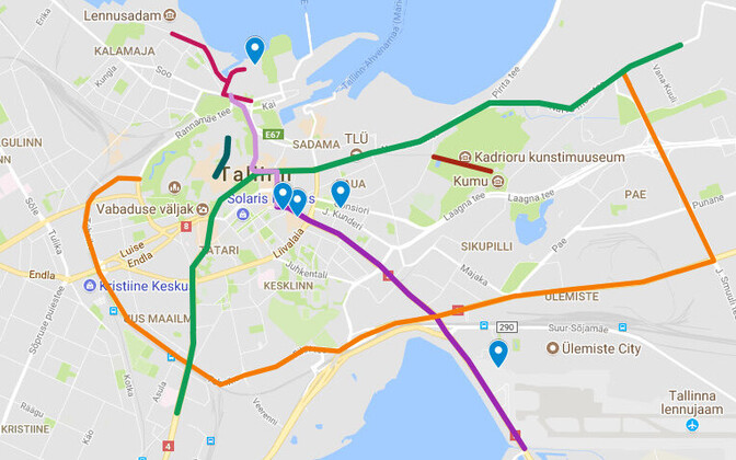 The Tallinn Digital Summit will affect traffic in Tallinn from Thursday through Saturday.