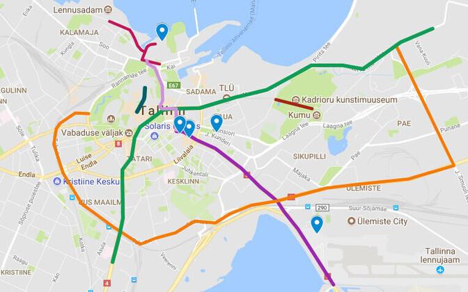 The Tallinn Digital Summit will affect traffic in Tallinn from Thursday through Saturday.