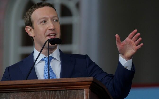 Facebooki juht Mark Zuckerberg.