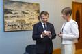 French President Emmanuel Macron and President Kersti Kaljulaid at Kadriorg Palace.