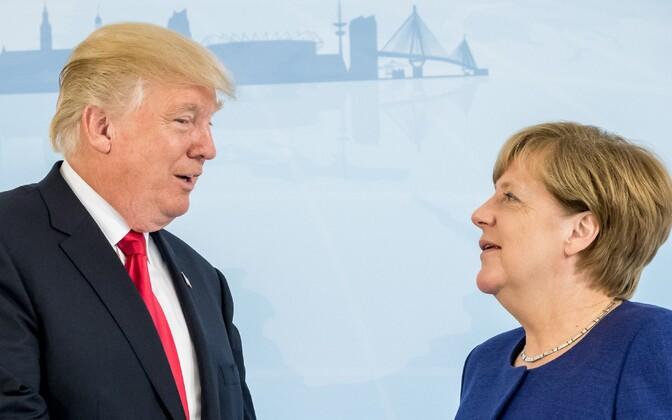 Trump ja Merkel 6. juulil G20 tippkohtumisel.