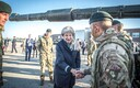 British Prime Minister Theresa May visiting British troops stationed at Tapa Army Base. Sept. 29, 2017.