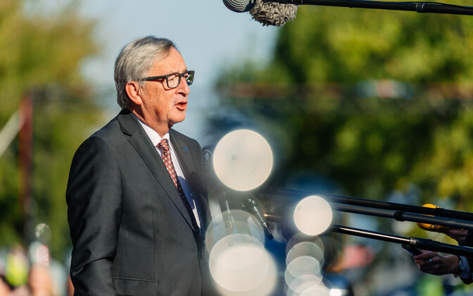 Jean-Claude Juncker tippkohtumise eel.